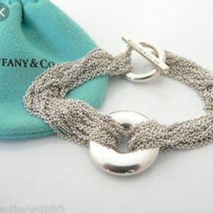 2bb4d971c Tiffany & Co Silver Multi Strand Circle Mesh Brace